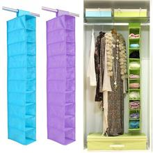 8 Pockets Hanging Storage Bag Wardrobe Door Wall Mounted Home Sundries Clothing shoes underwear Closet Organizer Bags(China)