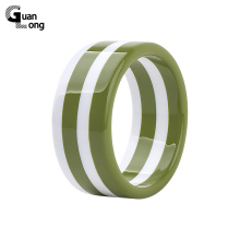 GuanLong Fashion Stripe Resin Bangle Bracelet Jewelry 2017 New Collection Women Puseiras Jewellery Wholesale(China)