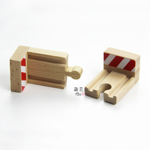 P042 Compatible with Thomas wooden railway track the end stop rail train wooden rail accessories fancy toy game scene 2pcs/lot