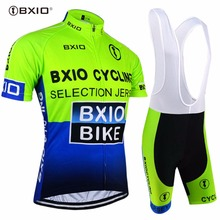 2017 BXIO MTB Team Cycling Set Summer Fluorescence Bicycle Clothing Racing Bike Clothes Ropa Ciclismo Sport Jerseys BX-0209G004