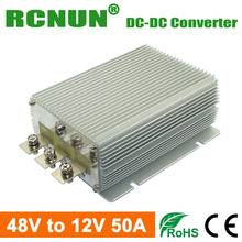 Waterproof Golf Cart Voltage Reducer 48V to 12V 50A Step Down DC DC Converters 600W Car Power Supply