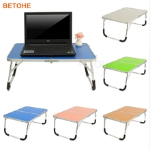 BETOHE Portable Laptop Desk Table Stand Holder Adjustable Folding Lapdesk Bed Sofa Tray Notebook Computer Desk Camping Table
