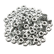 MTGATHER 100PCS Screw Nut M2 Dia 2mm Hex Screw Nut Nuts Good Quality Galvanized Carbon Steel 2 mm(China)