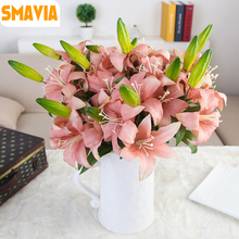 SMAVIA Silk Calla Lily Artificial Flowers for Wedding Decoration Home Simulation Artificial Florals Bouquet Party Supplies 1pc(China)