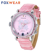 FOXWEAR F26 Women Girls Fashion Sports Wristwatch Recorder Photographing Remote Control WIFI Video Night Vision Smart Watch Pink(China)