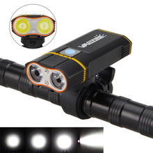 6000LM Front Bike Headlight 2X XM-L2 LED Cycling Light Built-in 6000mAh Rechargeable Battery +Handlebar Mount +USB line(China)