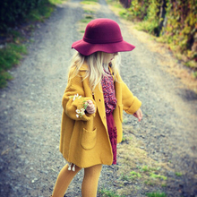 Wool girls sweaters cardigan coat  3-8Y  child winter cardigan for girls sweater long Turtlenecks children kids sweater autumn