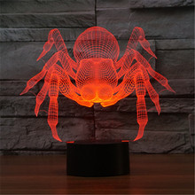 Colorful USB  Frozen Spider Household Bedroom Office LED Table Lamp Child Science Fiction Night Lights Christmas Gift -132