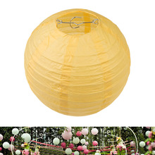 "Multicolor Chinese Paper Lanterns Wedding Party Decoration 8"" Lemon Yellow(China)"