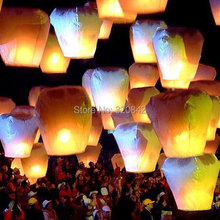 10pcs/lot Romantic Paper Sky Lantern Balloons With Fuel For Wedding Party Birthday Casamento Decoration Free Shipping