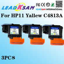 3pieces HP11 Yellow C4813A Printhead for hp OfficeJet 9110 9130 1000 1100 1200 2200 2280 2300 2600 2800(China)