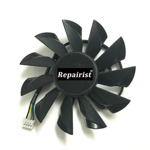 GPU R7-250 R7-240 VGA Cooler Graphics Card fan For Radeon R7 240 R7 250 2GD3 OC MSI Video cards cooling(China)
