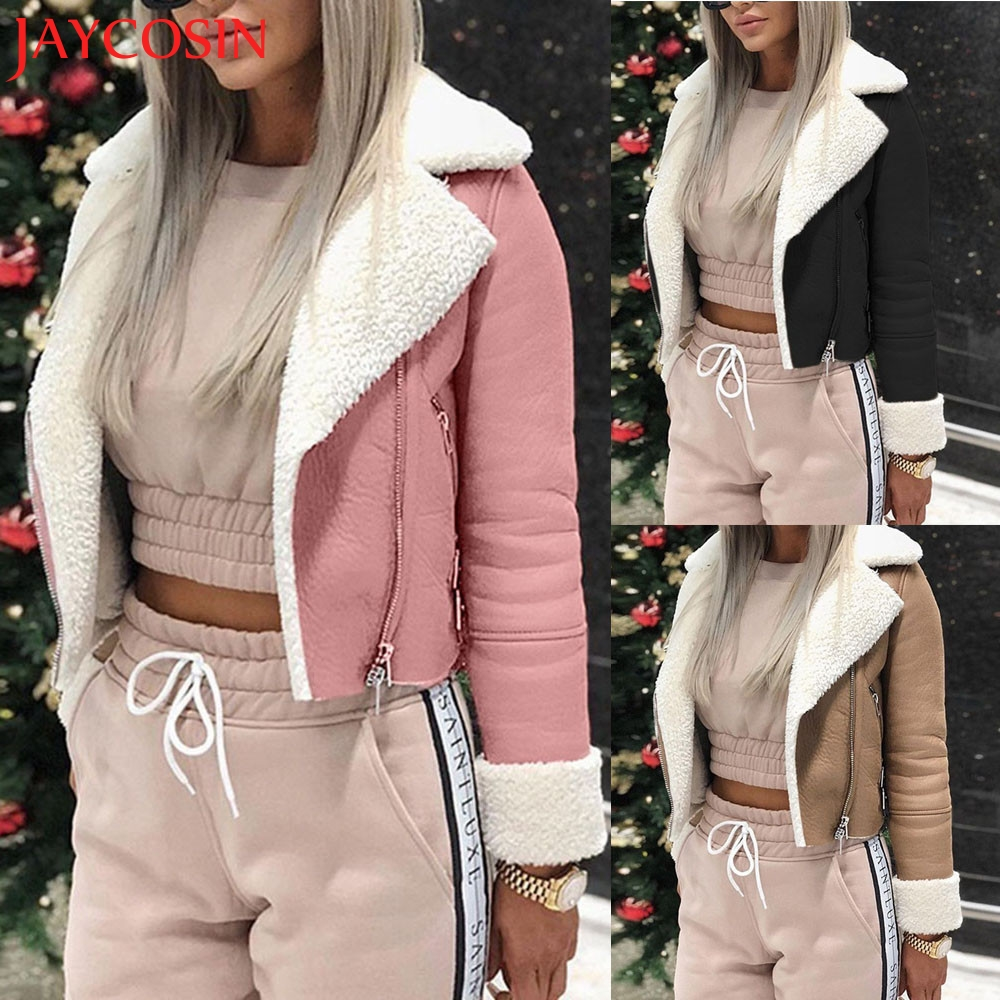 Women Lapel Suede Leather Buckle Cool Pilot Jacket Faux Lamb Wool Motorcycle Jackets  Dropship Nov.18 handbag