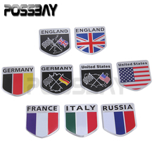 POSSBAY -24% OFF ATV Car Auto Motorcycles Bikes Flag Emblem Grille Badge Decals Sticker For VW GOLF JETTA SCIROCCO TIGUAN Decor