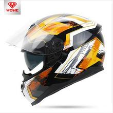 2017 New YOHE Dual lens winter warm motorcycle helmet full face motorbike Electric helmet All lining unpick and wash YH-967(China)