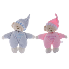 Baby Sleeping Hat Bear Slumber Doll Soft Plush Stuff Toys Infant Kid Soother