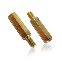 Single head hexagon copper cylinder M3 brass pillars H59 separation pillar screw(China)