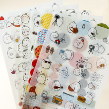 6 pcs/lot cute molang rabbit  PVC paper sticker diy decoration sticky album diary scrapbooking school supplies