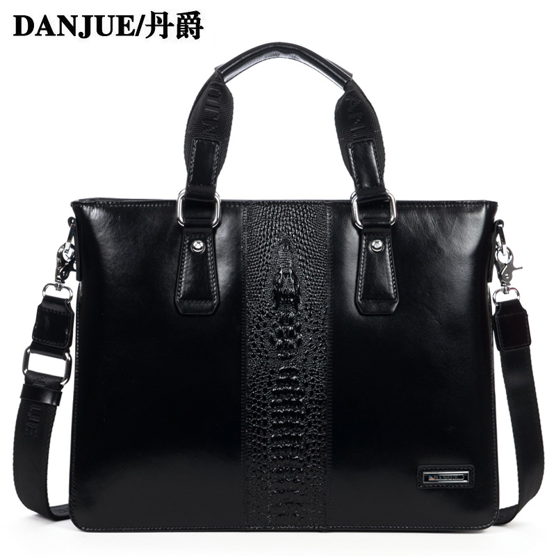 Fashion Genuine leather men handbag Alligator Pattern real leather men's business briefcase high quality laptop bag for men(China (Mainland))
