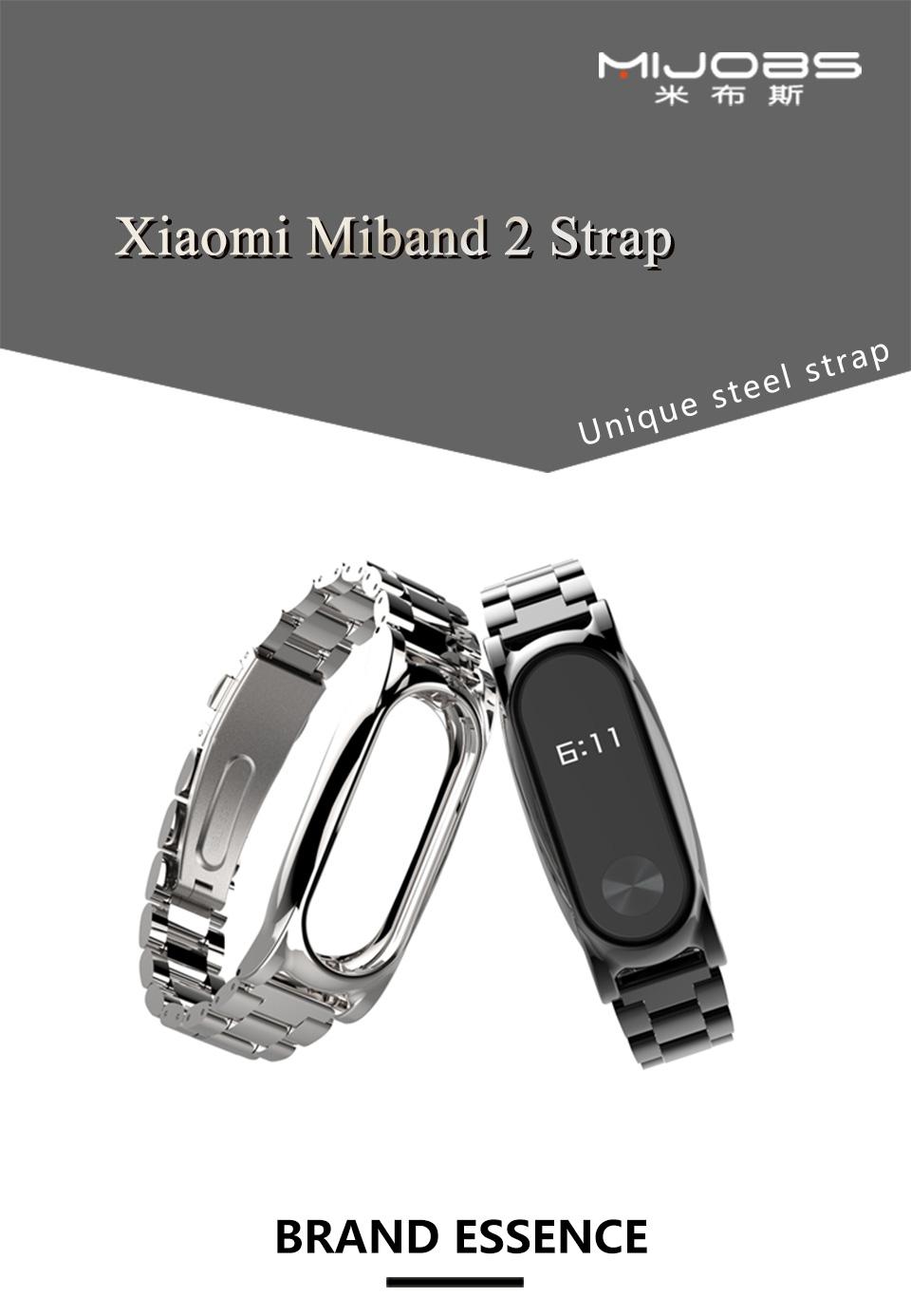 Original Stainless Steel Metal Plus Fitbit Free tool Xiaomi miband 2 Smart Bracelet Replacement Fitness Tracker mi Accessories 3