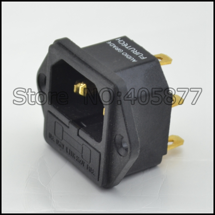 viborg audio FI-03 Fused IEC Socket/Connector 24K Gold plated IEC Inlet with fuse holder<br><br>Aliexpress