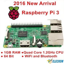 Elecrow Raspberry Pi 3 Model B 1GB RAM Quad Core 1.2GHz 64bit CPU WiFi & Bluetooth Third Generation Raspberry Pi Free Shipping