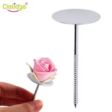 Delidge 1 PC Stainless Steel Piping Nail 3D Rose Flower Maker Piping Bottom Tray Ice Cream Cake Decoration Tools(China)