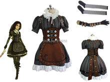 Alice Madness Returns Alice Maid Apron Dress Uniform Outfit Cosplay Costumes(China)