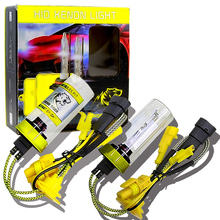 AC фар автомобиля H1 H11 9005 HB3 9006 HB4 9003 HB2 HID H4 Xenon H7 огни 12 В 55 Вт 6000 К 8000LM HID Conversion Kit авто лампы(China)