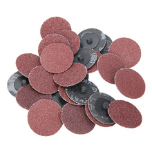"25Pcs Sanding Disc Pad 2"" 36 Grit Roll Lock Sanding Discs R-Type Roloc Disc for Metal Wood Polishing Abrasive Sanding Disc(China)"
