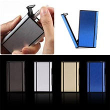 JETTING 9.8*5.7*2cm Aluminum Pocket Cigarette Case Automatic Ejection Holder Metal Box Fashon Cigarette Accessories