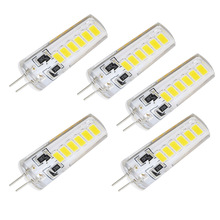 5pcs/lot G4 LED 12LEDs SMD 5733 Bulb DC 12V Corn Candle 5730 Light Replace 8W Compact Fluorescent Lamp For Chandelier Lighting