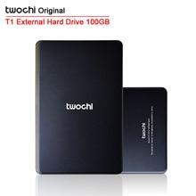 Бесплатная доставка 2015 Новый стиль 2.5 дюймов Twochi USB2.0 HDD 100 г тонкий внешний жесткий диск портативный дисковое хранилище опт и розница