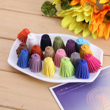 10Pcs/lot 30mm  Suede Leather Jewelry Tassel For Key Chains/ Cellphone Charms Faux Suede Tassel DIY Jewelry Findings