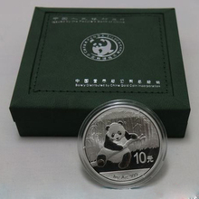 2014 Year Chinese cherish animal 1oz panda silver  plated coin 10 Yuan with box for collection free shipping