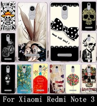 Soft TPU Hard PC Phone Cover Case For Xiaomi Redmi Note 3 Redmi Note 3 Pro Housing Redmi Note 2 Pro Shell Cool Skull Head Hood