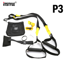 ITSTYLE Resistance Bands crossfit Equipment Strength Hanging Training Strap Fitness Exerciser Workout Suspension Trainer Belt(China)