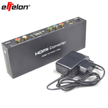 Effelon HDMI to RGB Component  Audio Video Adapter HDMI to VGA /SPDIF/RL Converter Support 5.1CH Surround Sound