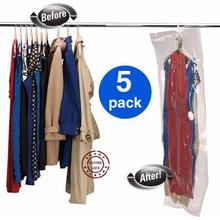 Hanger vacuum bag, 5 pcs |90*60, 110*60, 105*70, 145*70 | Vacuum bag with hanger | hanging vacuum storage bag | space saving bag