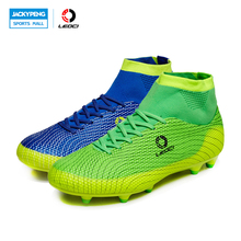 Leoci Soccer Shoes Sport Football Shoes   Men Soccer Shoes Boys Kids Soccer Cleats F High Ankle Football Shoes Soccer Boots