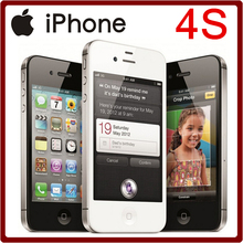 100% Original iPhone 4S Unlocked 3.5 Inches 8/16/32/64GB ROM GSM 8MP Camera WIFI GPS IOS Mobile Phone Free Shipping