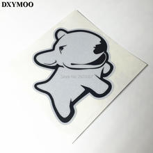 120mm Dog Pet Bull Terrier Cute Car Sticker Vinyl Auto Window Fish Tank Car Motorcycle Decals Reflective 3M H3509