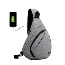 USB Charging Anti Thief Men Back Pack Chest Bag Travel Fashion Design Laptop Mochila Waterproof School Unisex Messenger Bag Sac(China)