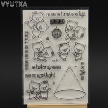 VYUTXA Dance Life Transparent Clear Silicone Stamp/Seal for DIY scrapbooking/photo album Decorative clear stamp sheets(China)