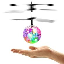 RC Flight Toy RC Flying Ball Mini Heli Drone Light Up Aircraft Helicopter Electronic Ball Shinning LED Lighting Toy for Children(China)