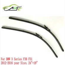 "Free shipping car wiper blade FOR BMW 3 SERIES F30 Size 24"" 19"" Soft Rubber WindShield Wiper Blade 2pcs/PAIR deflector window"