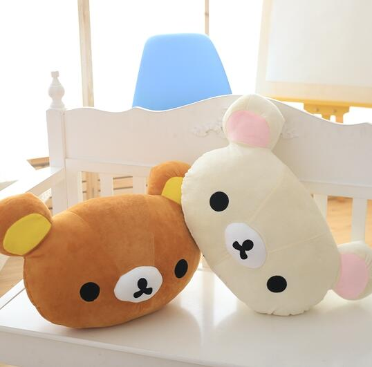 1pc 50*30cm Cartoon Rilakkuma Plush Pillow Staffed Soft Easy Bear Plush Toy Cute Relax Bear Sofa Cushion Childrens Gift <br><br>Aliexpress