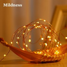 LED Starry String Fairy Lights Bedroom Micro Copper Wire Light Clips 2M 20 leds CR2032 Battery Powered Outdoor Party Night Lamp(China)