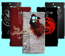Ice and Fire Cover Relief Shell For Xperia SP M35H ZR M36h Cool Game of Thrones Phone Cases For SONY Xperia ZL L35H