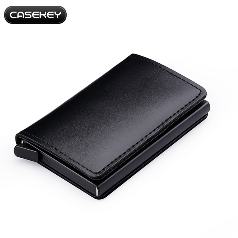 RFID Men Real Leather Luxury Soft Wallet Coin Purse Credit Card Holder Black
